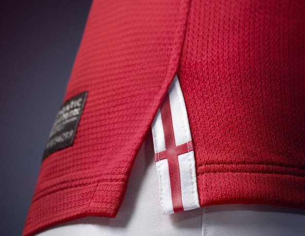 England Away Kit  2013 Closeup