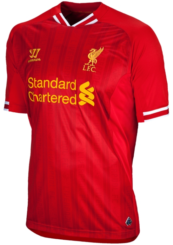 New Liverpool Kit 13-14- Warrior Sports Liverpool Home Shirt