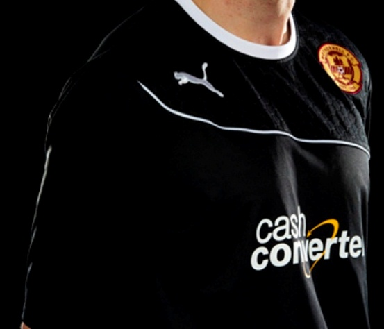 Motherwell Away Black Shirt