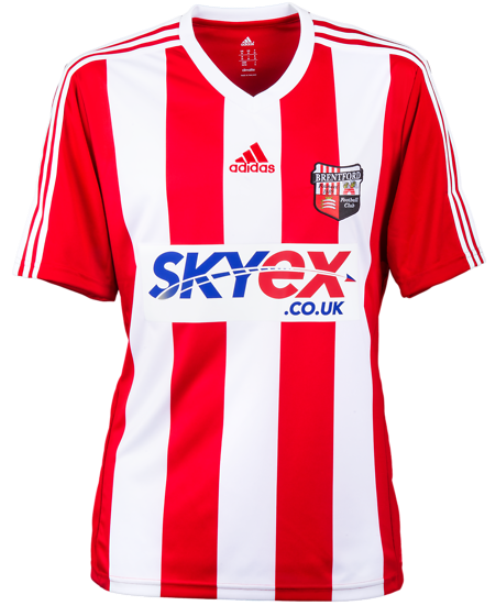 New Brentford Kit 13 14 Adidas Brentford Home Shirt 2013 14 Football Kit News