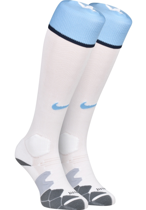 White Manchester City Socks 2013
