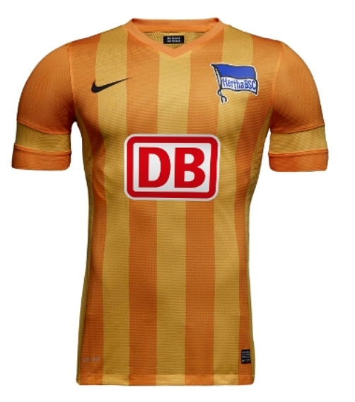 New Hertha Berlin Kits 13-14- Nike Hertha BSC Jerseys Home Yellow ... bb6bd2e35