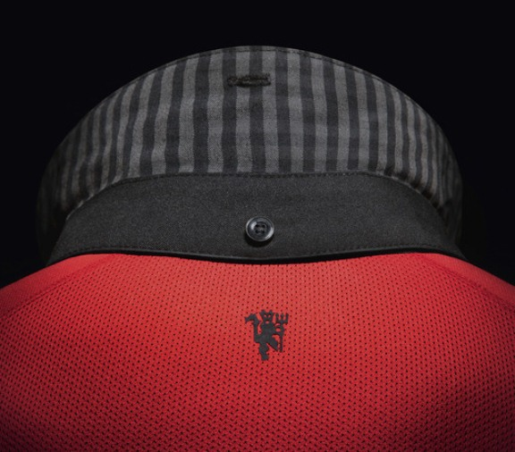 Man Utd New Collar Gingham Check 2014