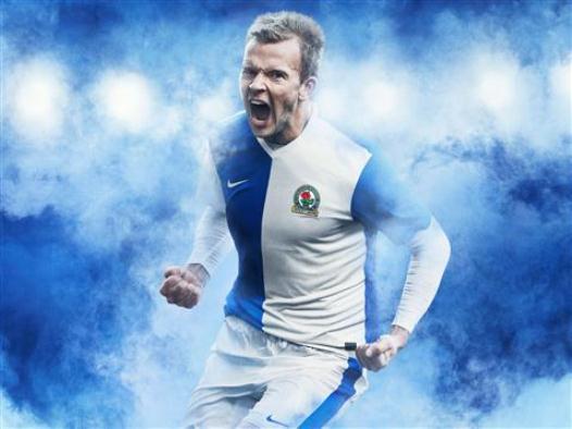 Nike Blackburn Rovers Home Kit 13 14