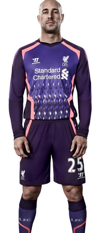 Pepe Reina Liverpool Away Goalkeeper Kit 2014