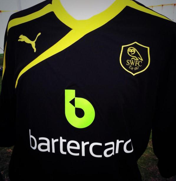 SWFC Black Away Kit 2013 2014