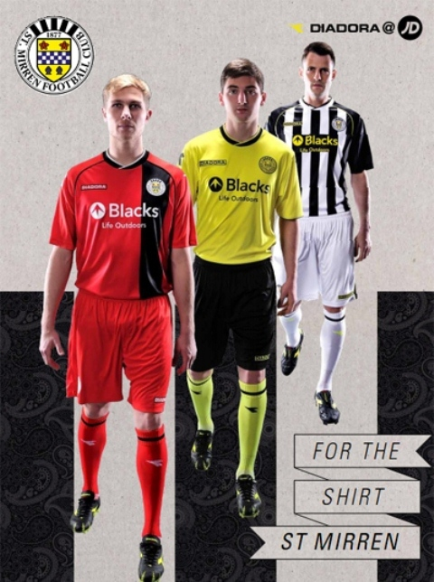 St.Mirren Away Third Kit 2013 14