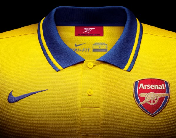 Arsenal Away Shirt Closeup