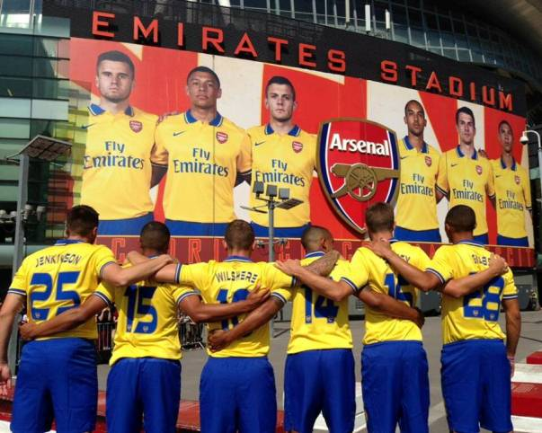 Arsenal Kit Launch 2013 14
