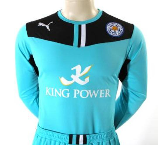 Blue Leicester City Gk Shirt 2013 14