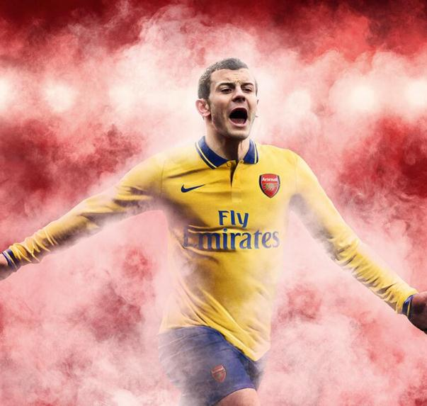 Jack Wilshere Arsenal Away Kit 13 14
