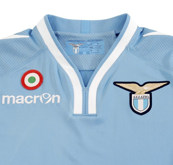 Lazio Home Shirt Closeup