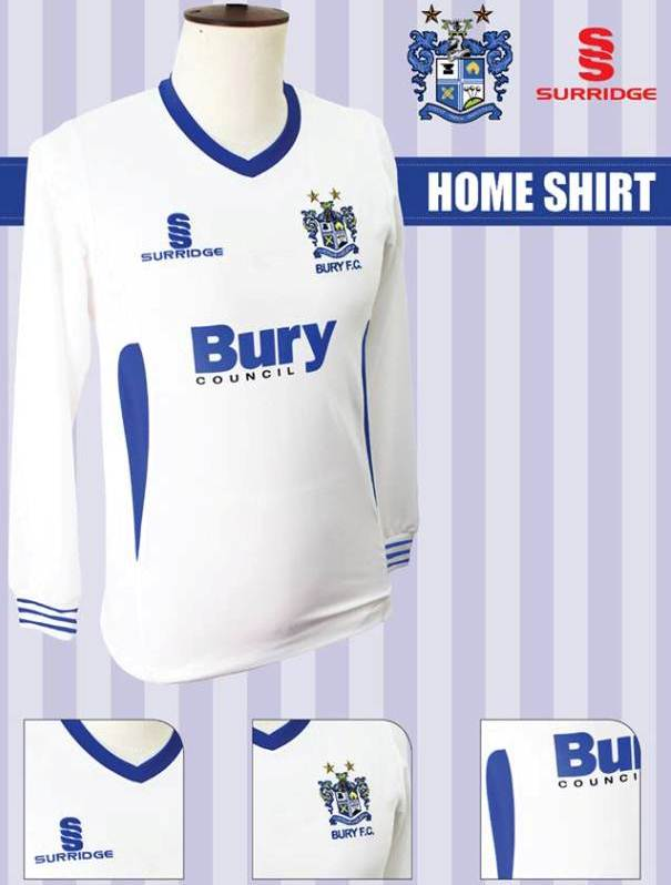 New Bury Home Kit 2013 14