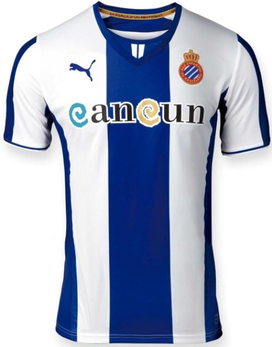 New Espanyol Jersey 2013-2014 Puma RCD Espanyol Home Away Third Kits ... 0e4ba9723