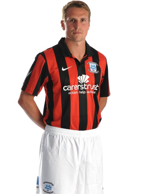 Red and Black PNE Away Kit 2013 14