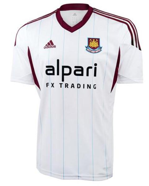 White West Ham Shirt 2013 14
