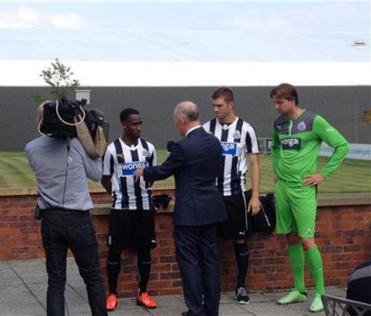 Newcastle United Kit 2013 14 Launch
