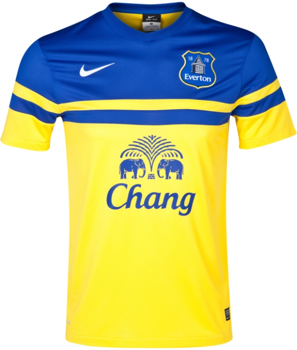 first rate fefff 492c9 New Everton Away Kit 13/14- Yellow Everton Away Shirt Nike ...