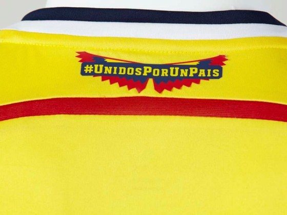 Colombia Jersey Closeup