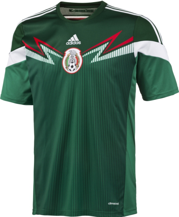 New Mexico 2014 15 Soccer Jersey- Adidas Mexico Home 2014 Kit ... 94f1a9d60