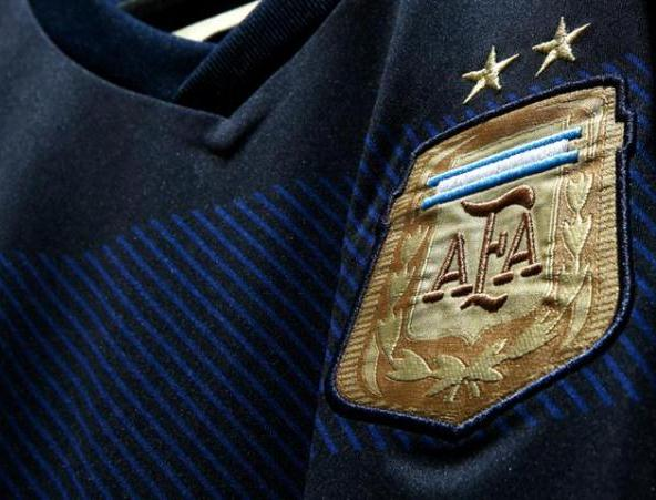 Argentina Away WC Jersey Closeup
