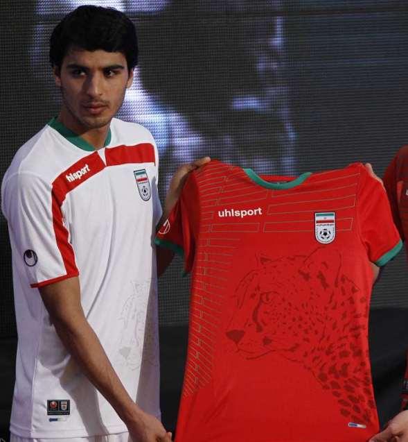 New Iran 2014 World Cup Kits- Uhlsport Iranian Home and Away Jerseys ... 575ccd210