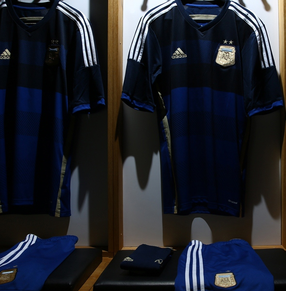 New Argentina Away World Cup 2014 Shirt | Blue Argentine ...