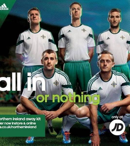 New Northern Ireland Away Football Shirt 2014