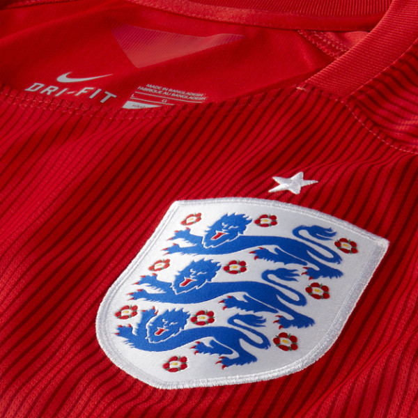 England Away Football Shirt Closeup