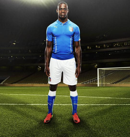 Mario Balotelli Italy World Cup Shirt 2014