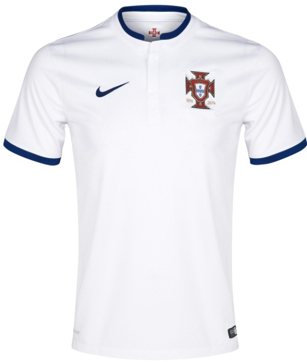 White Portugal Soccer Jersey 2014