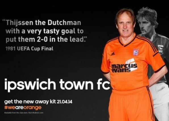 New Orange Ipswich Away Kit 2014 15