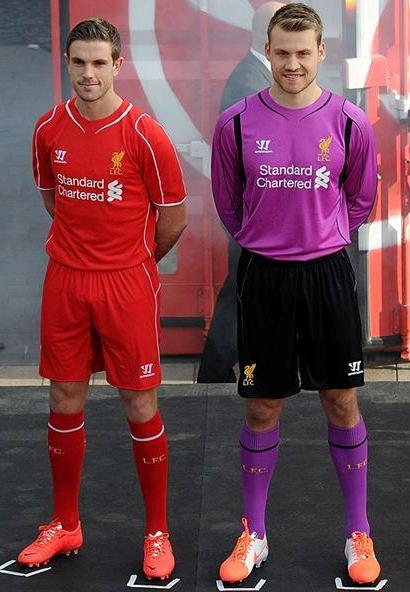 923291991 New Liverpool GK Shirt 2014-15 Simon Mignolet Purple LFC Goalkeeper ...