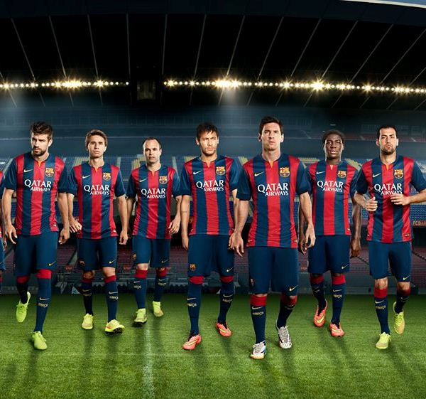 New Barcelona Home Kit 14 15