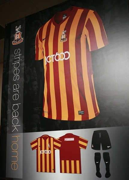 New Bradford City Kit 14 15