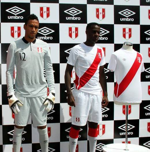 Umbro Peru Soccer Jersey 2014 2015
