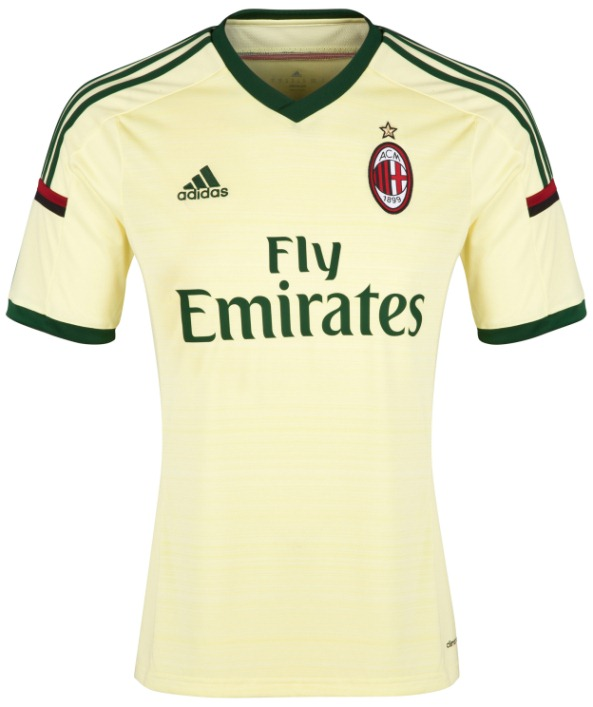 Yellow AC Milan Jersey 2014 15