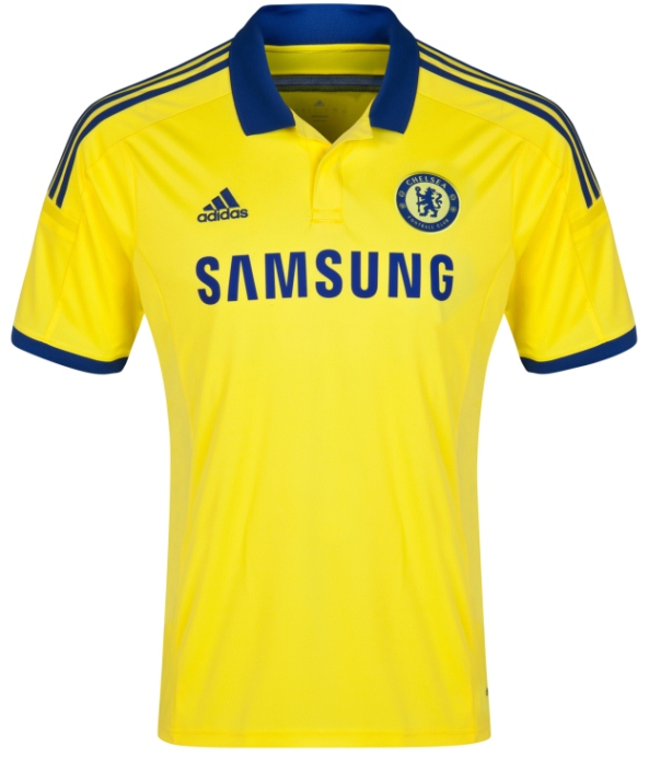 Yellow Chelsea Away Jersey 2014