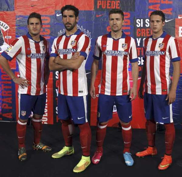 455b65bbe New Atletico Madrid 14/15 Kit- Nike Atleti Home Jersey 2014/15 ...