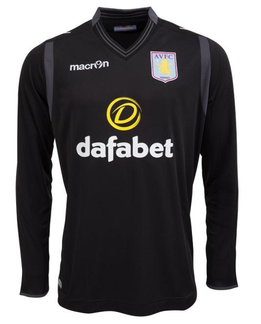 Black Aston Villa Goalkeeper Jersey 2014 15