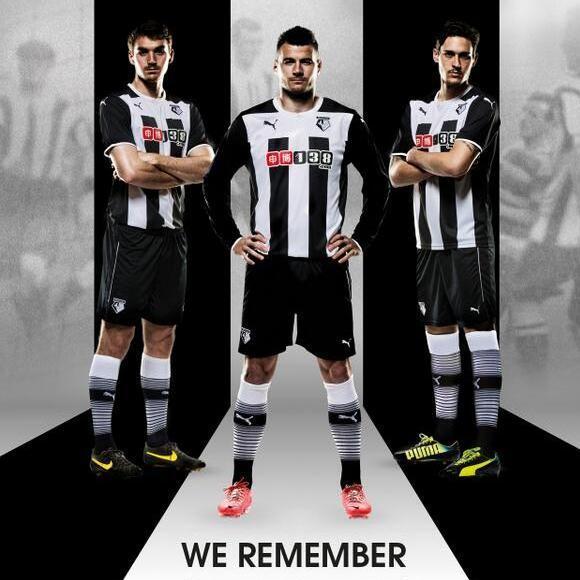 Black and White Watford Kit 2014 15