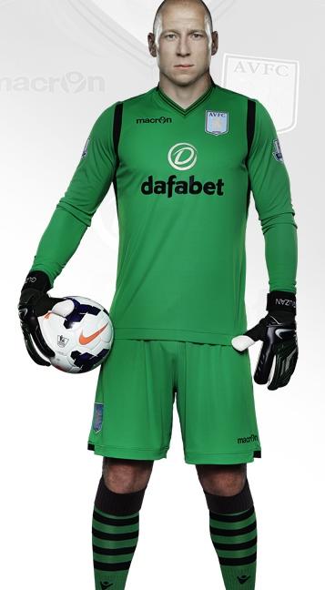 Brad Guzan Villa GK Kit 14 15