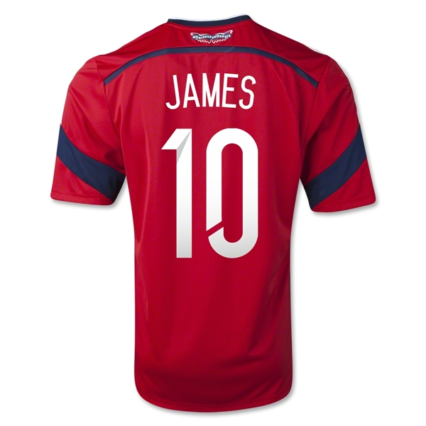 premium selection 24d9a c19b5 James Rodriguez Colombia Jersey World Cup 2014 | James ...