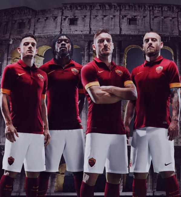 New Roma Football Shirt 2014 15