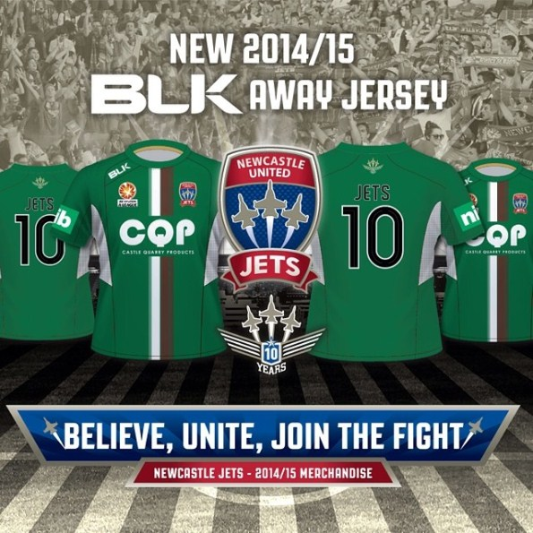 BLK Newcastle Jets Jersey 2014 2015