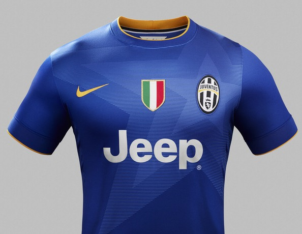Blue Juventus Away Shirt 2014 15