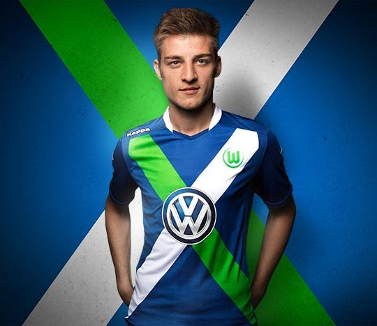 Blue Wolfsburg Shirt 2014 15