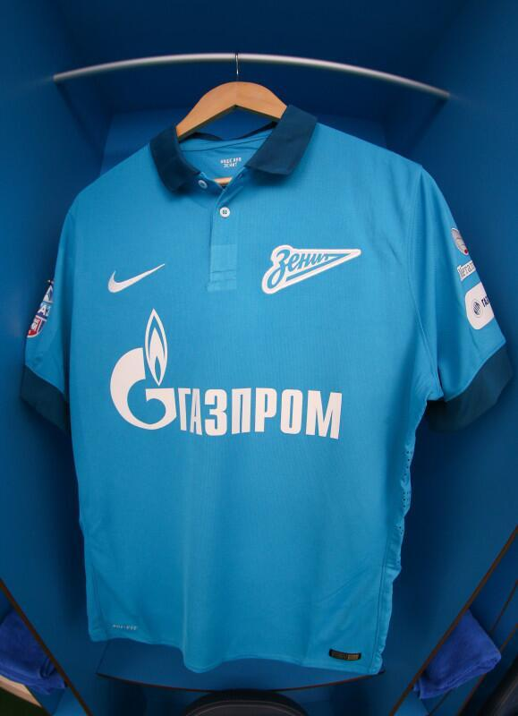 Blue Zenit Football Shirt 2014 15
