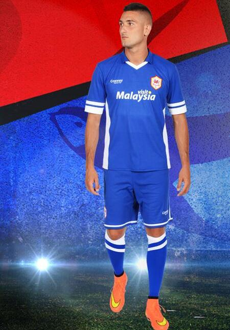 Cardiff City Blue Away Shirt 14 15