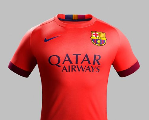 Crimson Orange Barcelona Kit 2014 2015